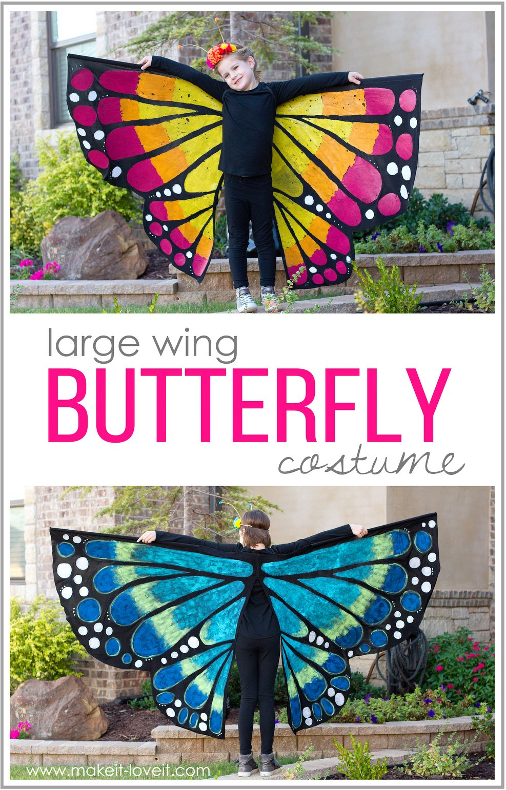 Make a LARGE WING BUTTERFLY Costume