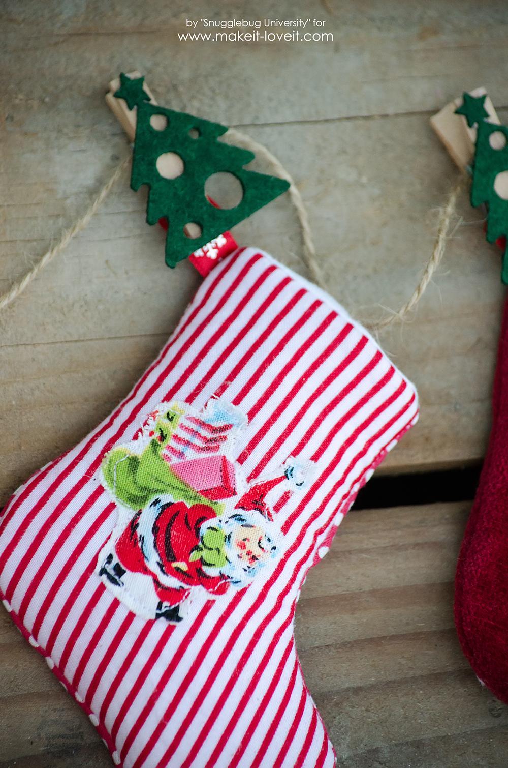 DIY Mini Stocking Advent Calendar   via makeit-loveit.com