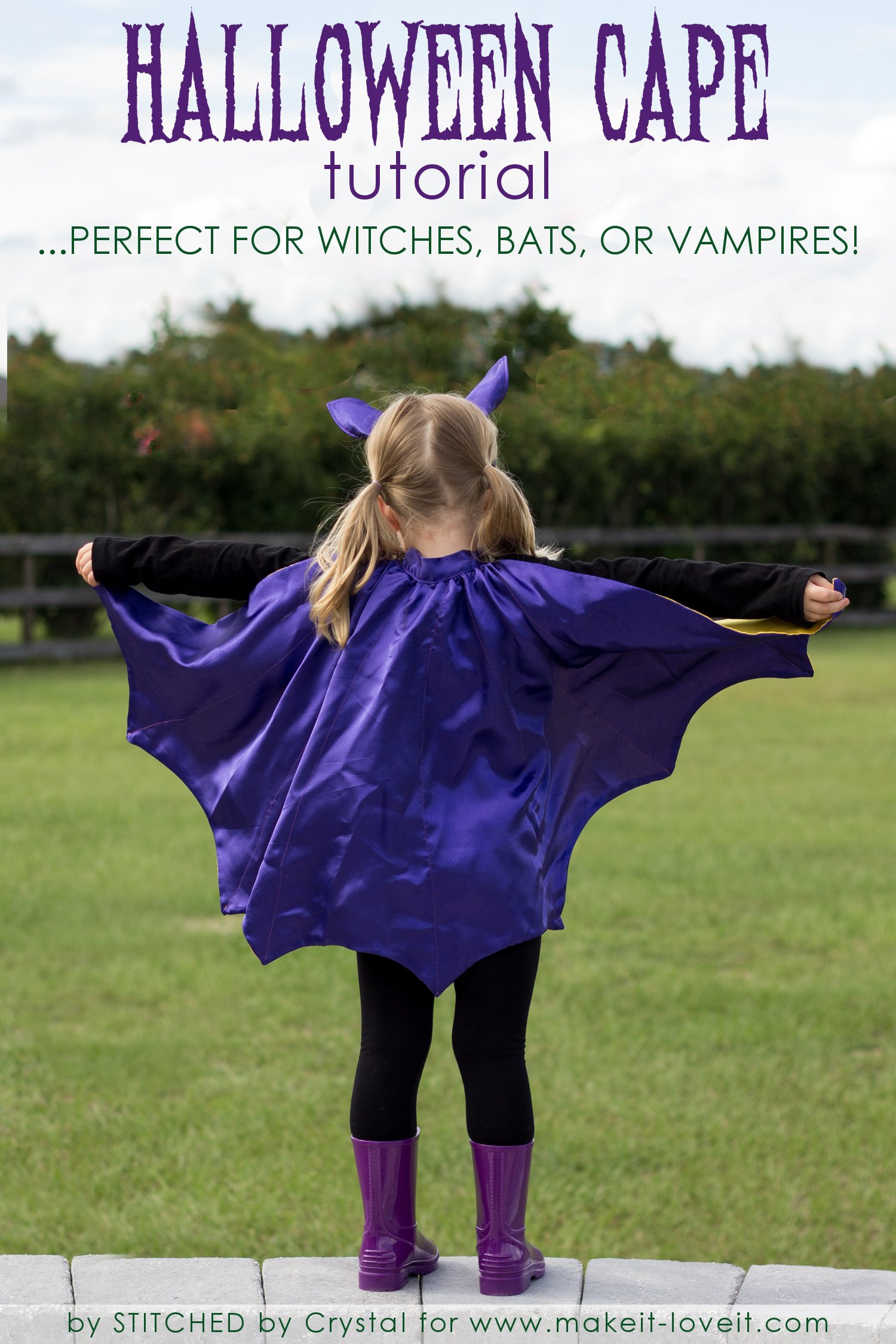 Sew A Reversible Halloween Cape….Perfect for Bats, Witches, and Vampires!