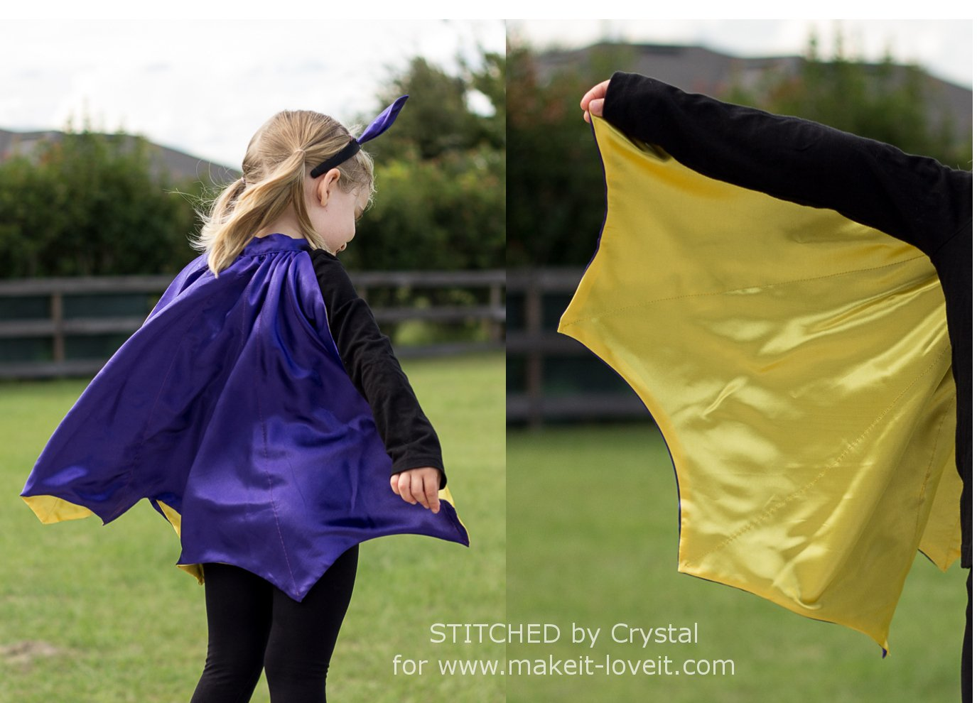 Sew A Reversible Halloween Cape....Perfect for Bats, Witches, and Vampires! | via www.ashley1.mystagingwebsite.com