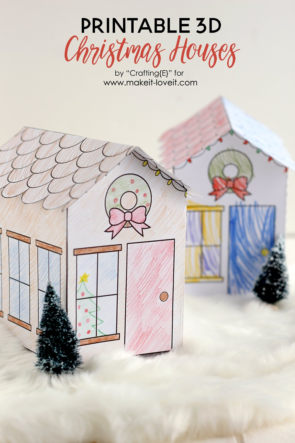 Printable 3d christmas houses 1