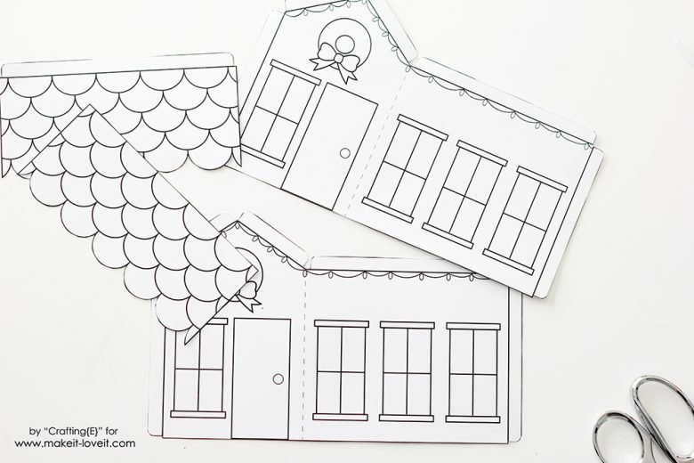 graphic relating to Printable House identified as Printable 3D Xmas Residences (excellent for small children!) Generate It