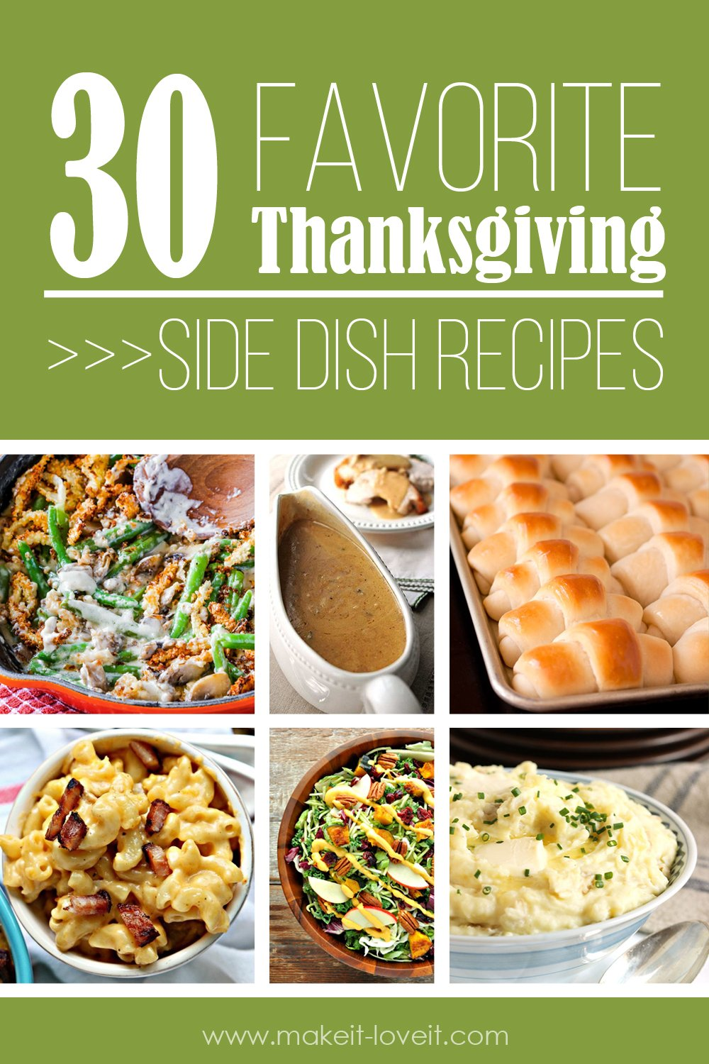 30 favorite thanksgiving side dish recipes