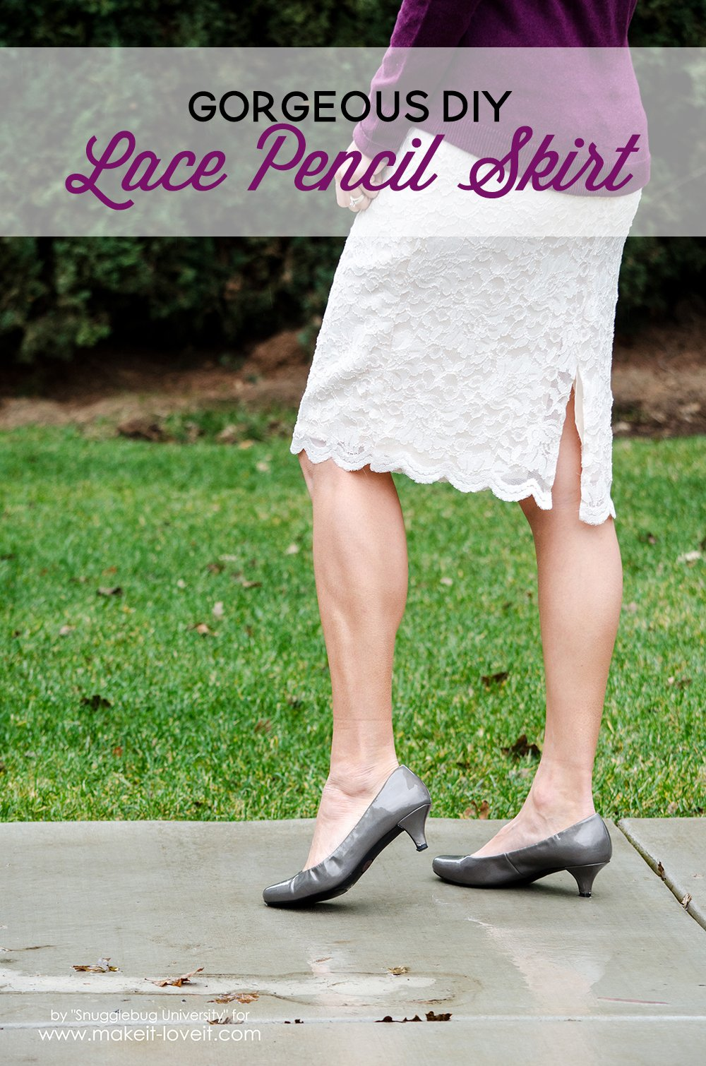 Gorgeous DIY Lace Pencil Skirt