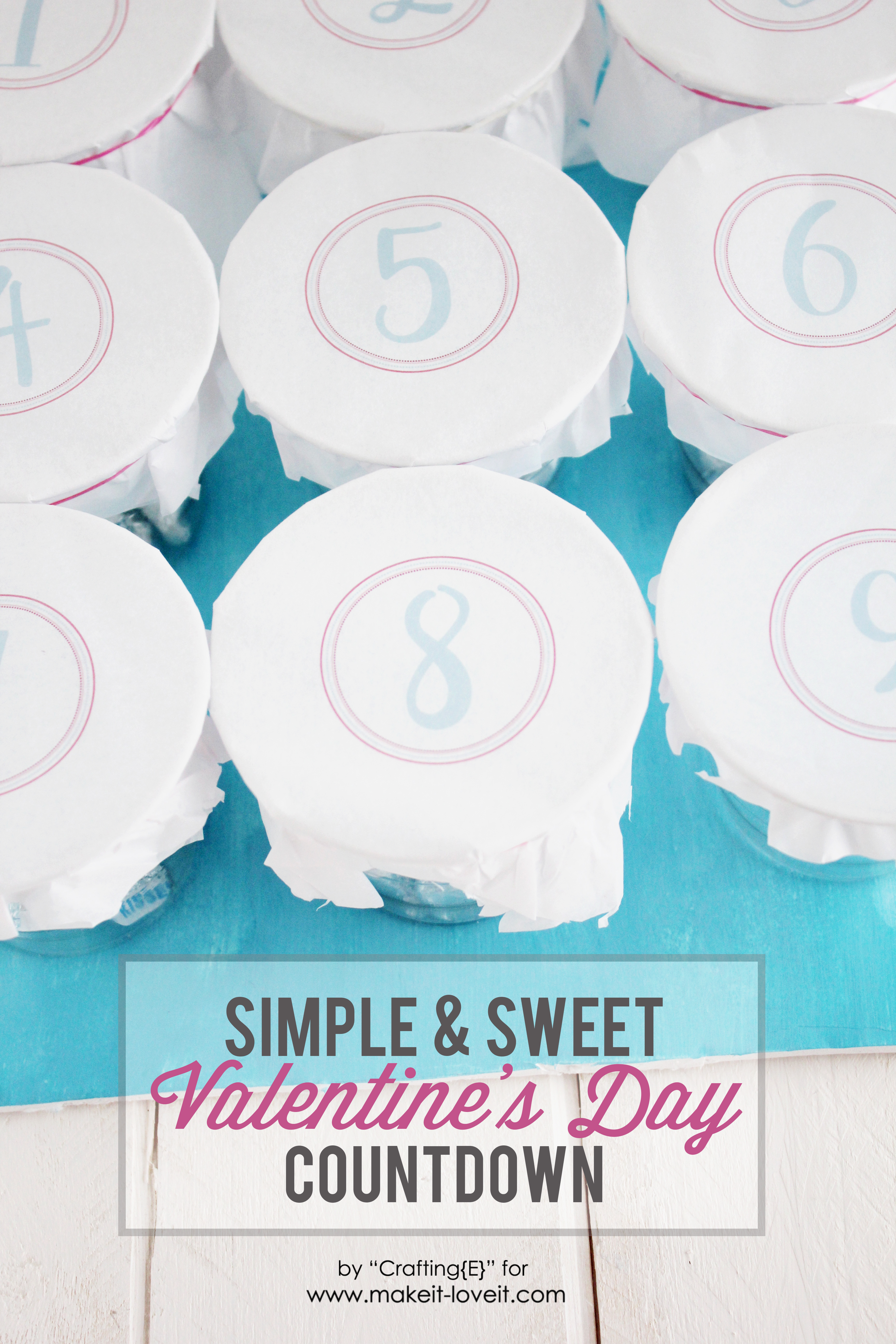 Simple and sweet valentine countdown