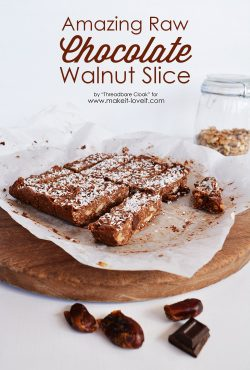 Raw Chocolate Walnut Slice recipe