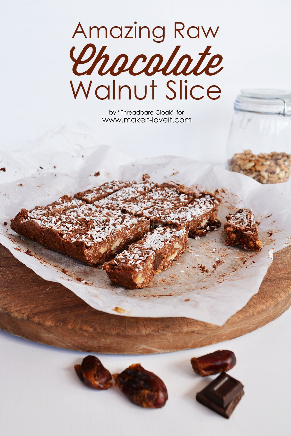 Raw chocolate walnut slice recipe