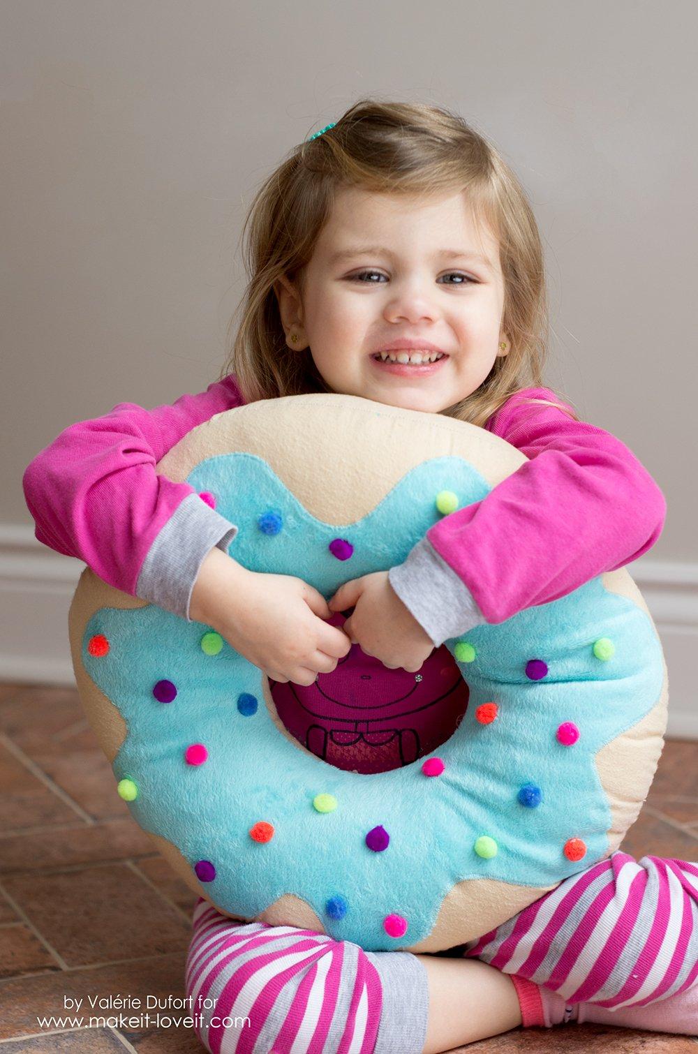 Delicious Donut Pillow Tutorial   via makeit-loveit.com