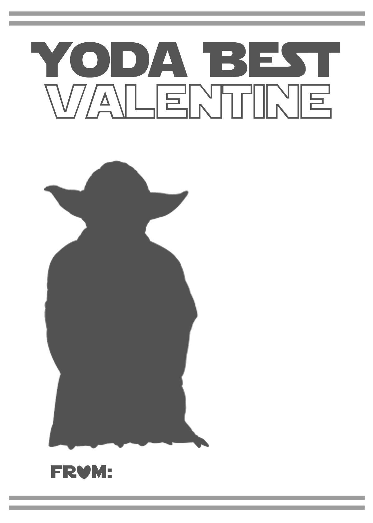 F R E E Valentine Card Printables Quot Star Wars Quot And