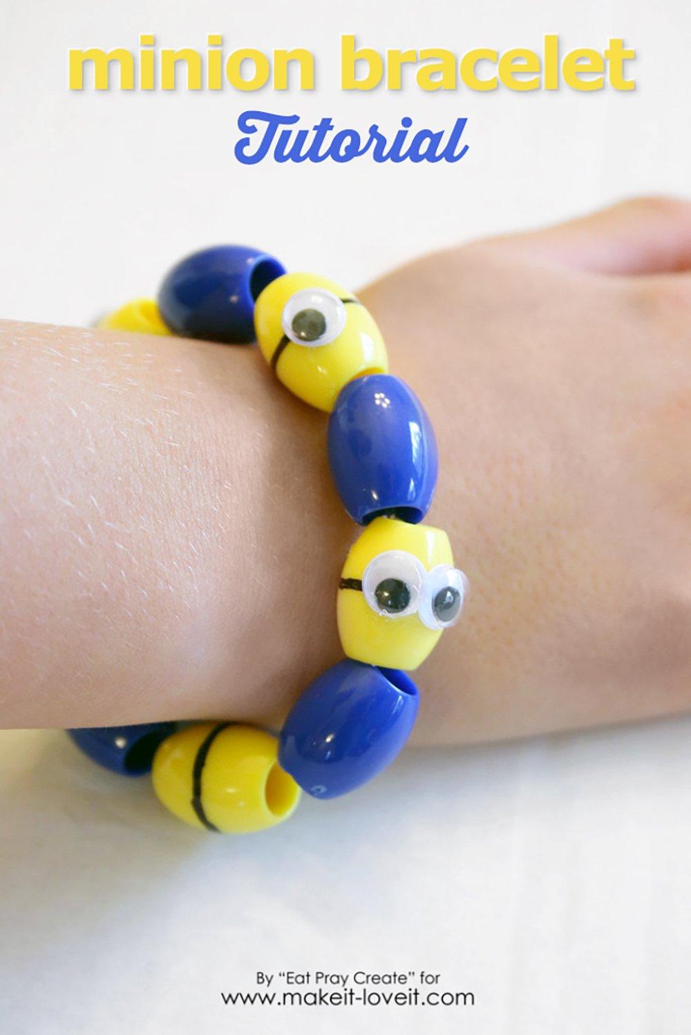 Adorable minion bracelet tutorial 1
