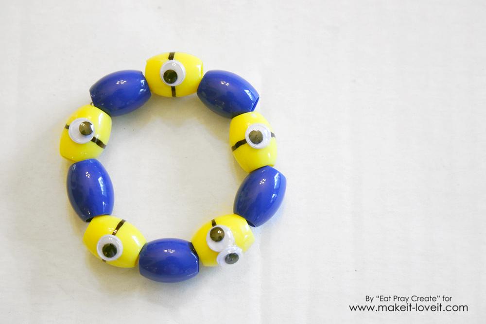 Adorable minion bracelet tutorial 14