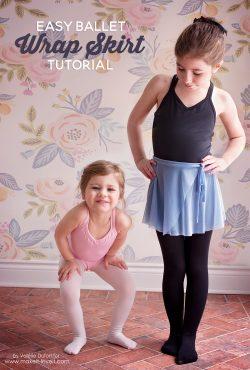 Easy Ballet Wrap Skirt Tutorial