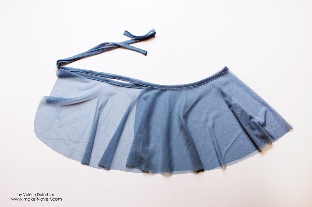Easy Ballet Wrap Skirt Tutorial 21