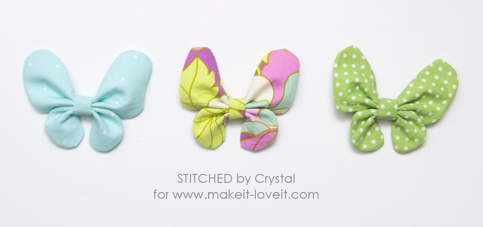 Butterfly Hair Bow Tutorial | via makeit-loveit.com