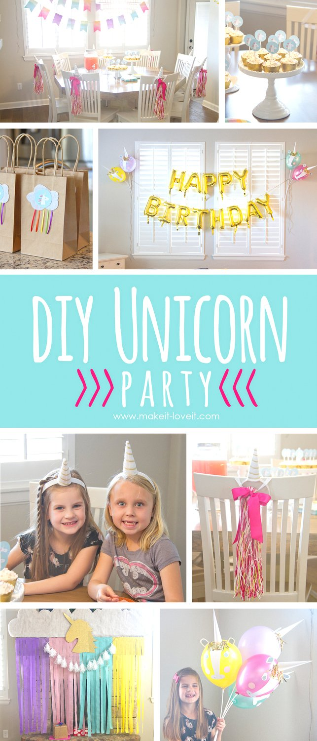 Diy unicorn party (…and chloe turned 6!!)