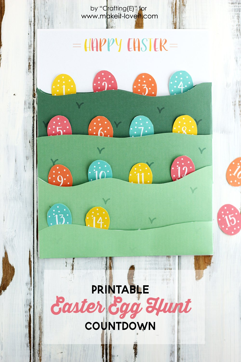 Printable easter egg hunt countdown