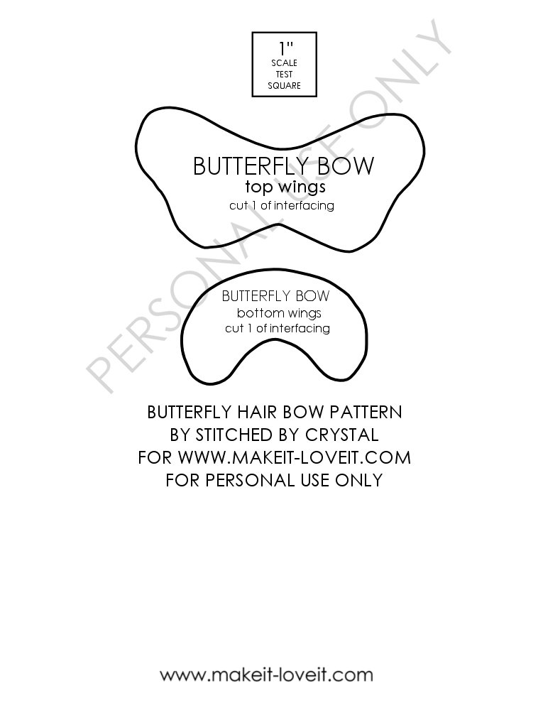 butterfly bow pattern