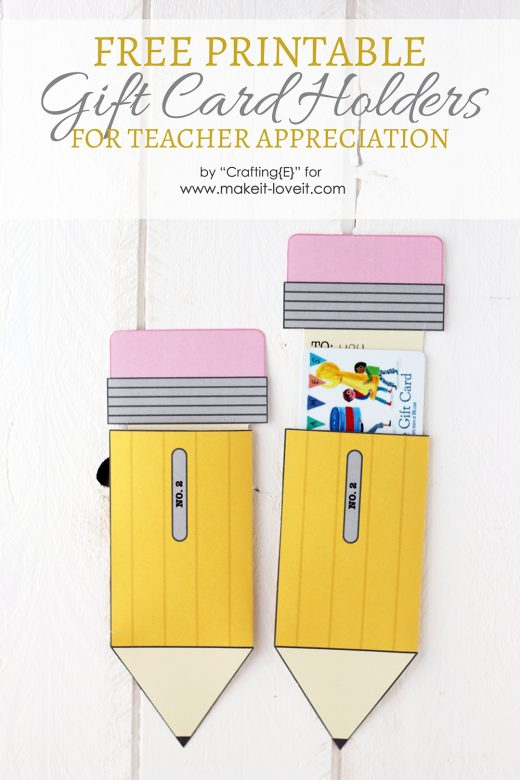 image about Printable Gift Card Holders named Instructor Appreciation Present Card Holders Crank out It and Appreciate It