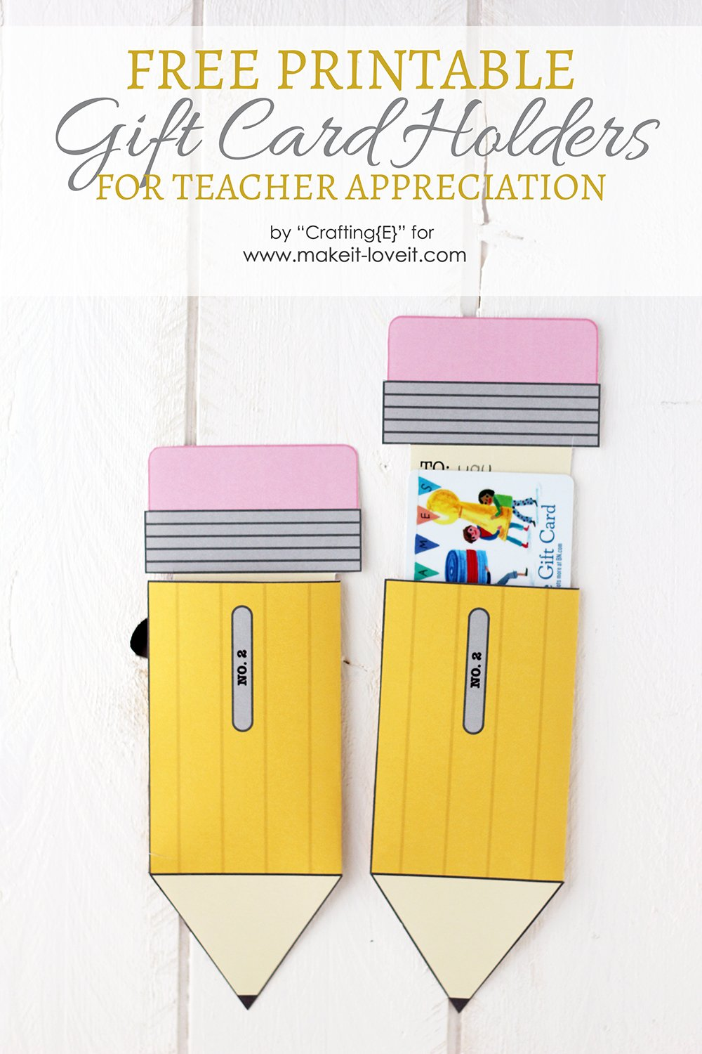 Free printable gift card holders for teacher appreciation