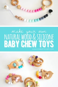 How to make Natural Wood & Silicone Baby Chew Toys