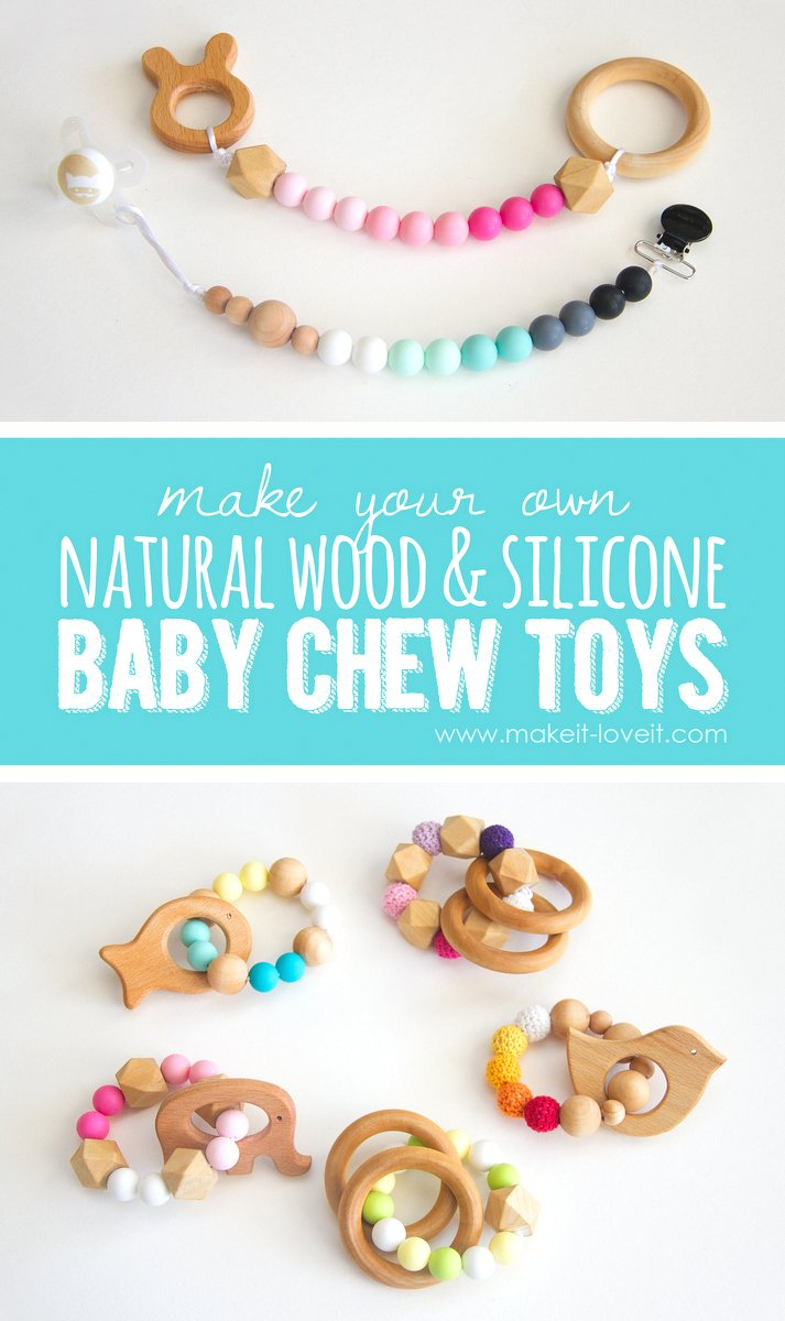 How to make Natural Wood & Silicone Baby Chew Toys – Make It and Love It