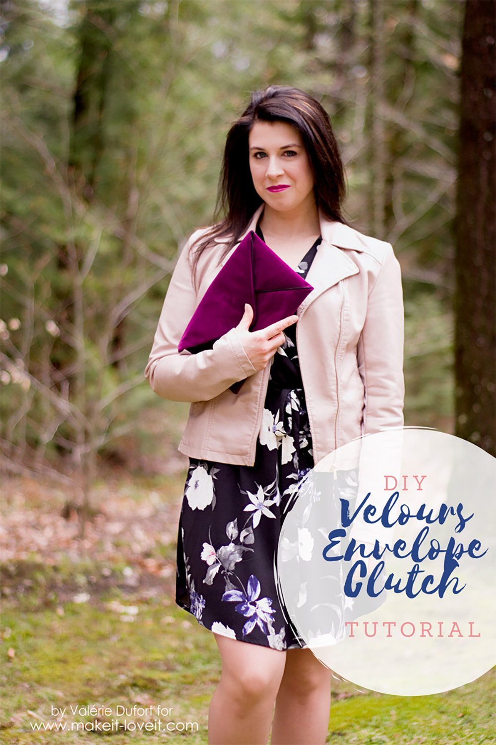 DIY Velours Envelope Clutch tutorial