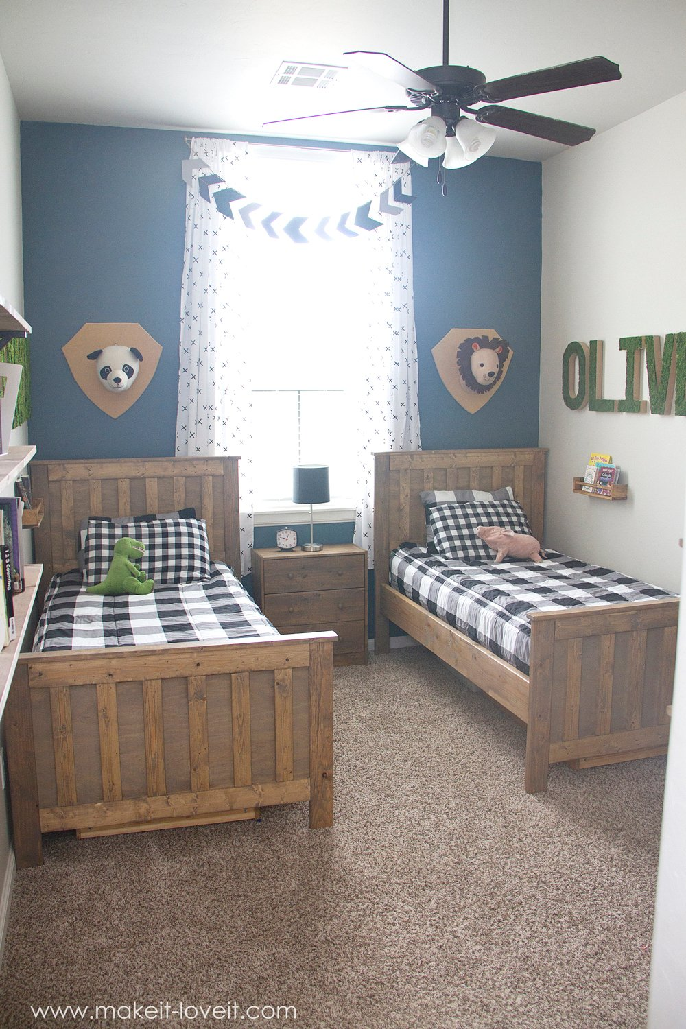 Ideas for a shared boys bedroom yay all done - Girls bedroom ideas for small rooms ...