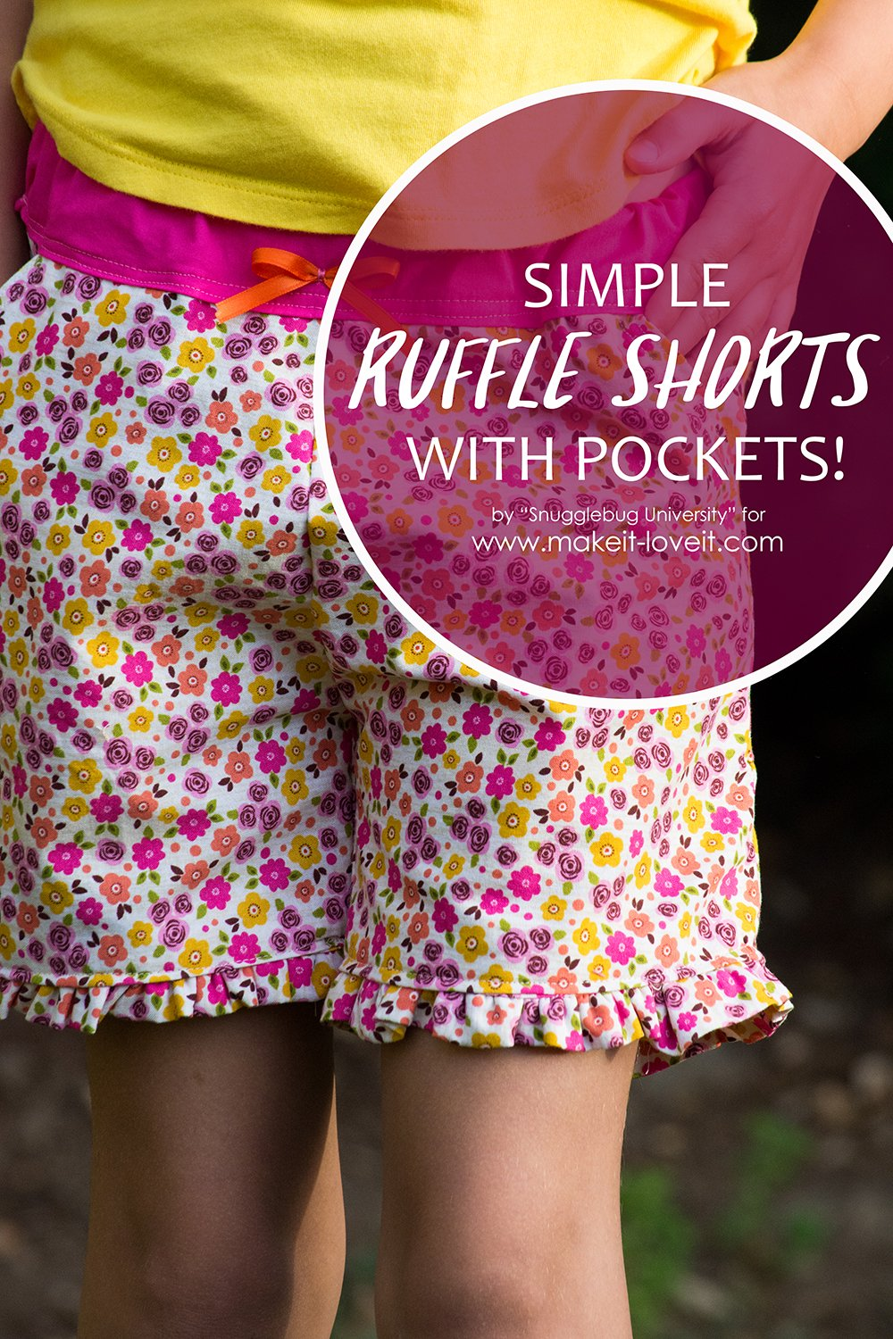 Simple ruffle shorts with pockets 1