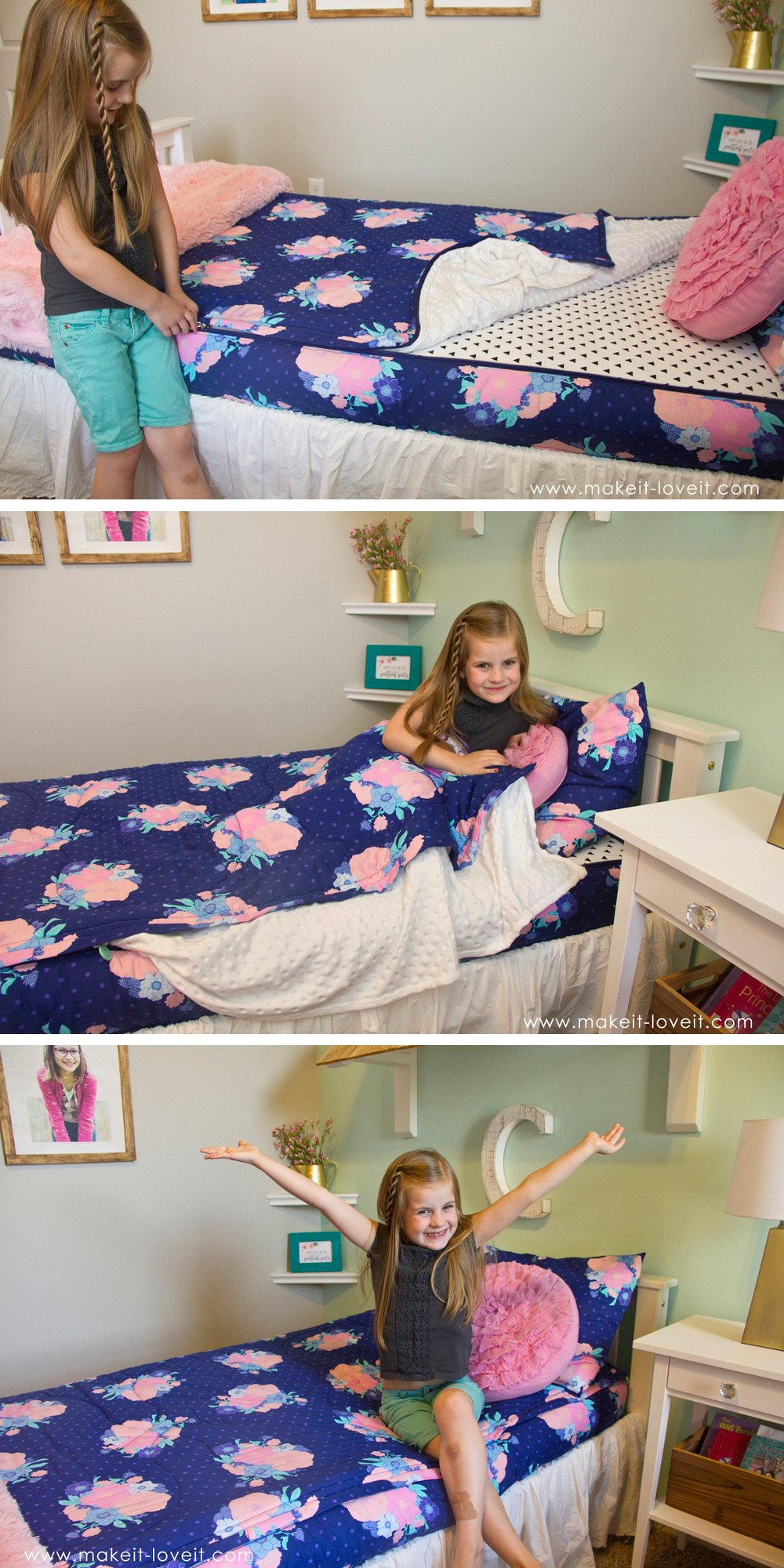 Zipper bedding for my kids' beds…..best solution ever!!