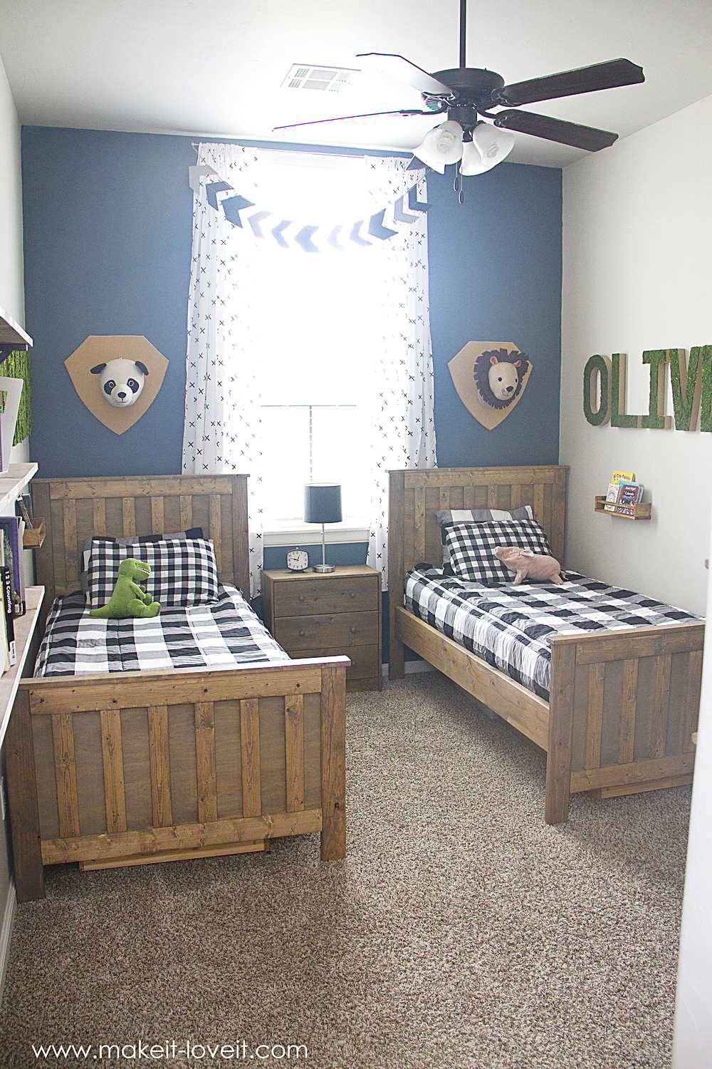 Ideas for a Shared BOYS Bedroom (...yay, all done ...