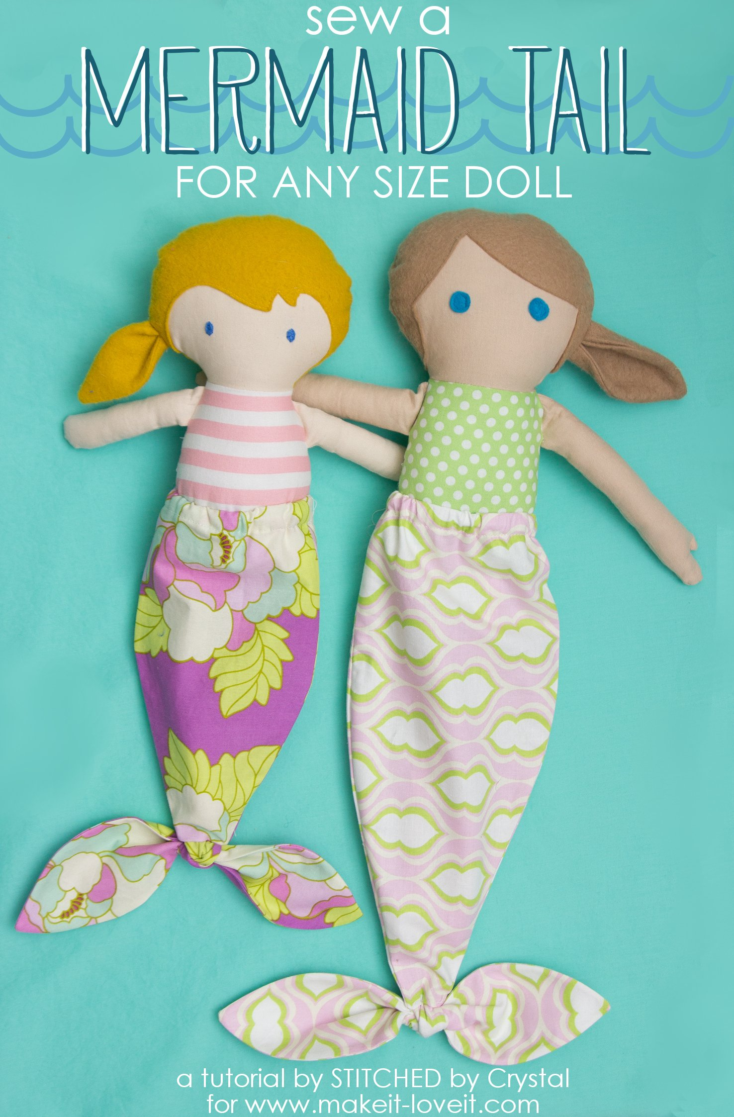 Sew a mermaid tail for any size doll!