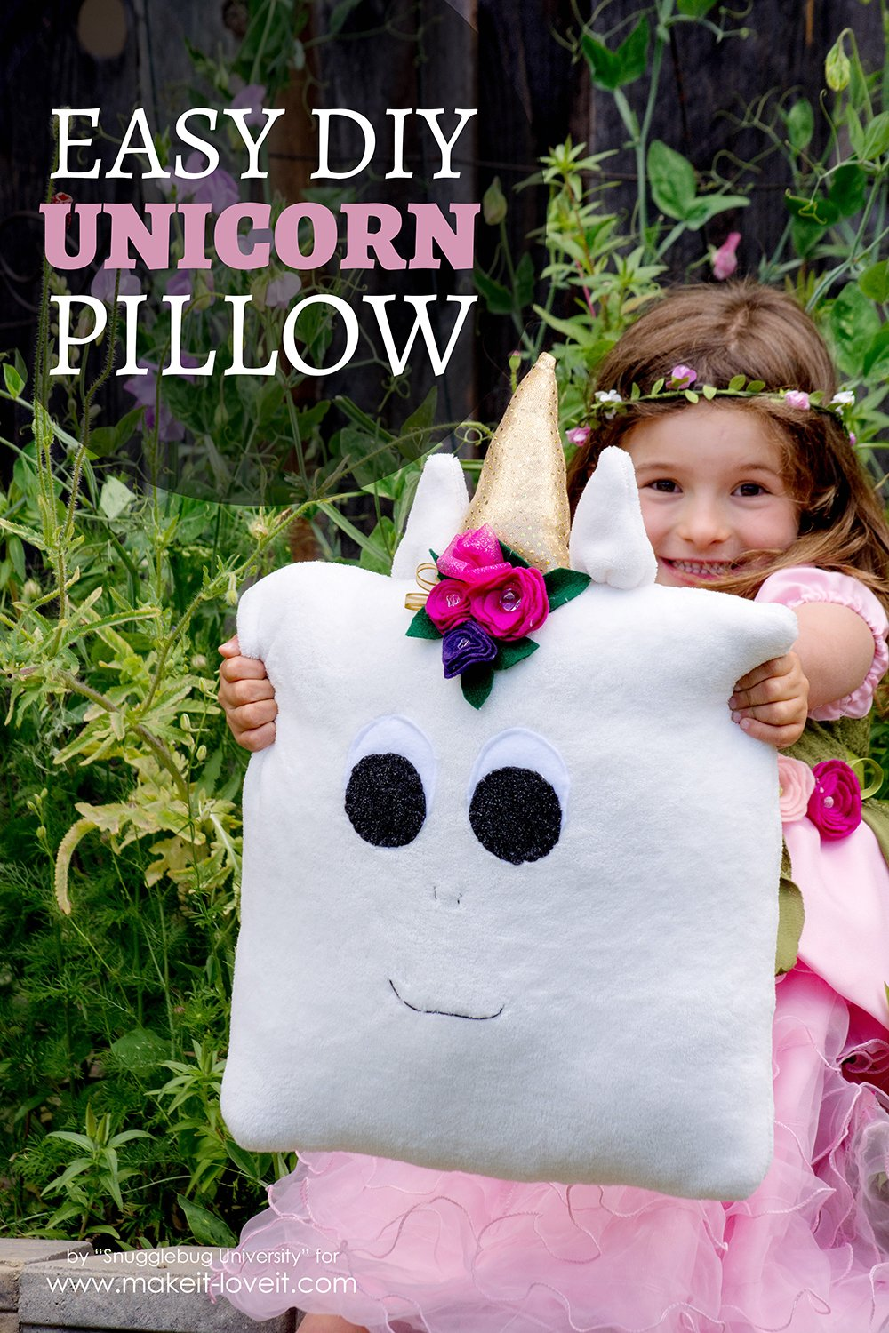 Easy diy unicorn pillow 1