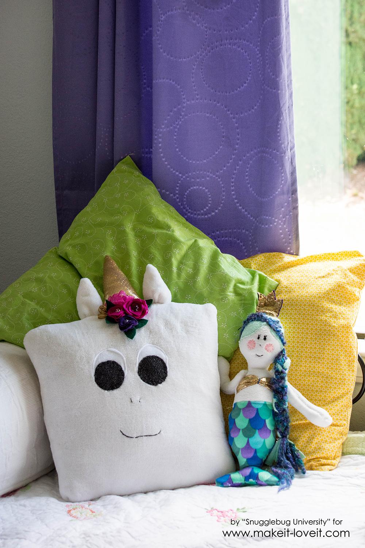 Easy DIY Unicorn Pillow | via www.ashley1.mystagingwebsite.com