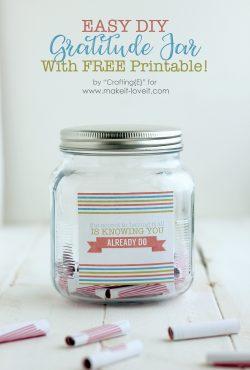 Printable DIY Gratitude Jar