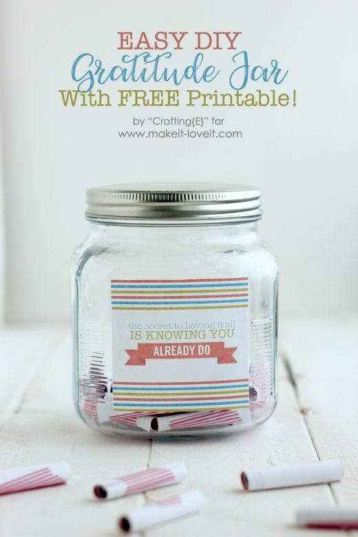 Printable Diy Gratitude Jar Make It And Love It