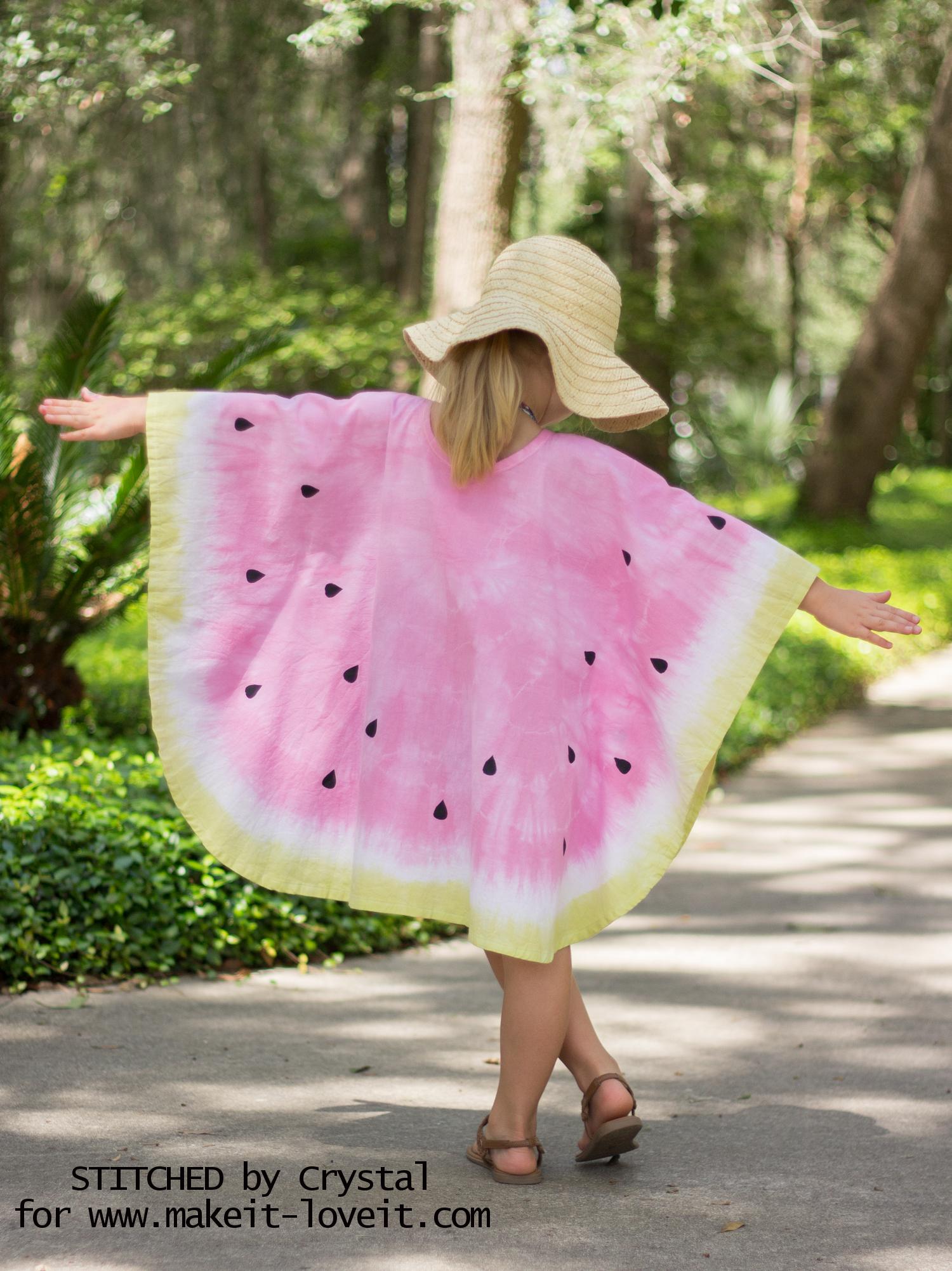 How to sew a Tie-Dye Watermelon Swim Cover! | via makeit-loveit.com