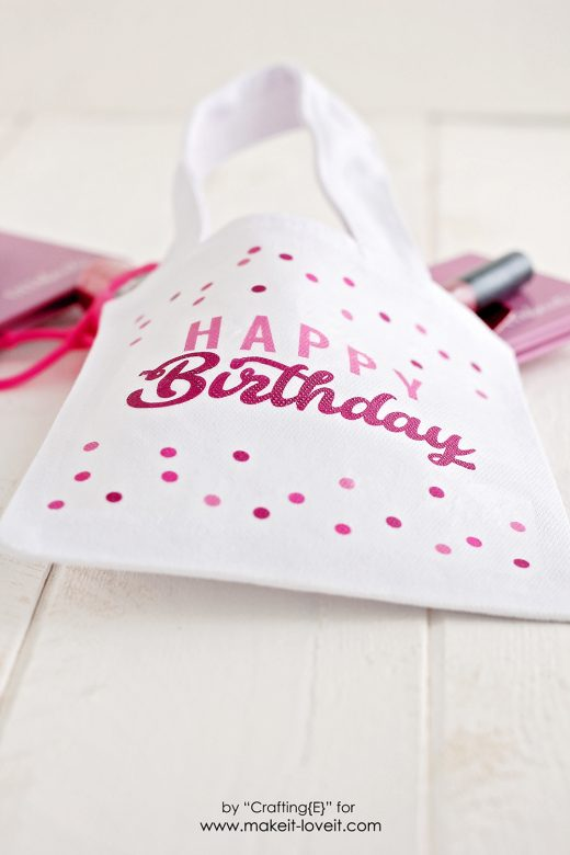 Diy Birthday Gift Bag Make It And Love It
