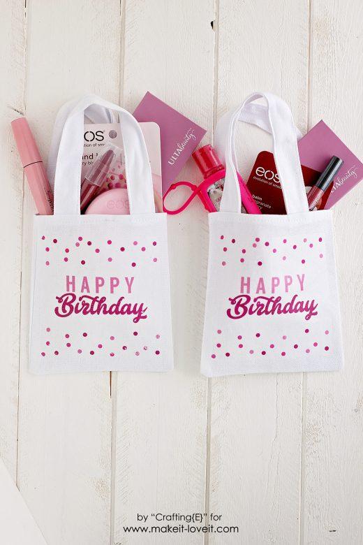 Diy birthday gift bag