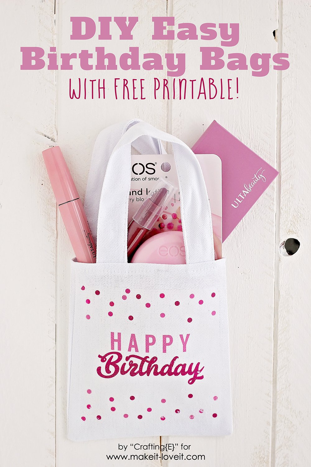 Easy diy birthday bags with free printable 9