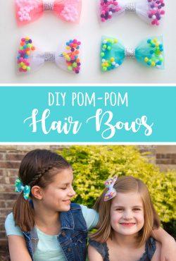 DIY Pom-Pom Hair Bows
