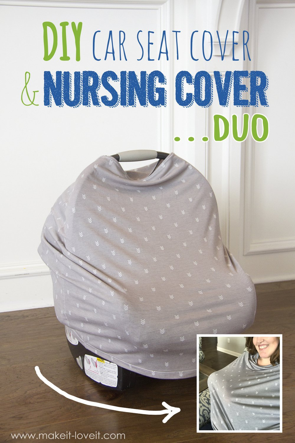 Diy Stretchy Car Seat Cover And Nursing Cover Duo Make