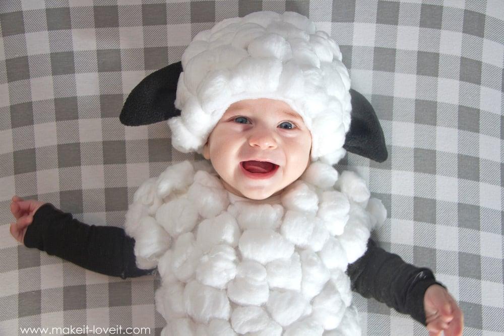 Homemade Baby Lamb Costume by Ashley Johnston