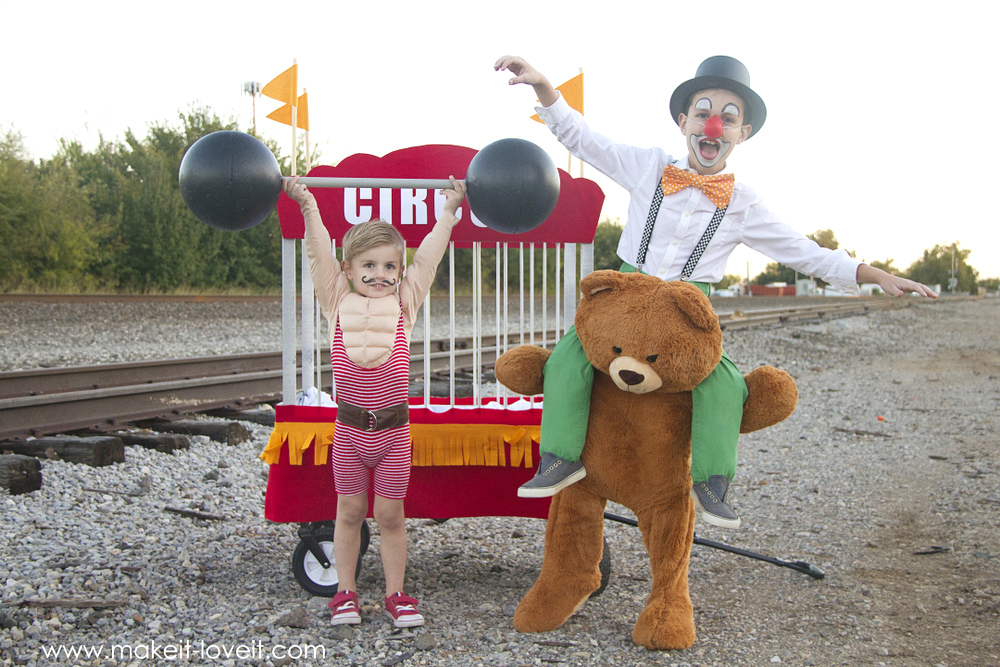 How to make CIRCUS Themed Costumes, strong man, clown
