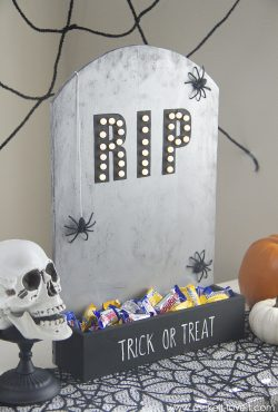 DIY Tombstone Candy Holder (…that lights up!)