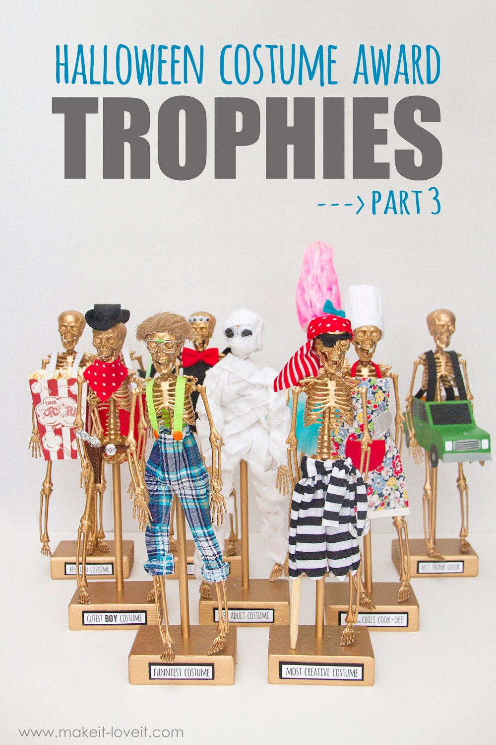 Diy halloween costume award trophies — part 3!!!