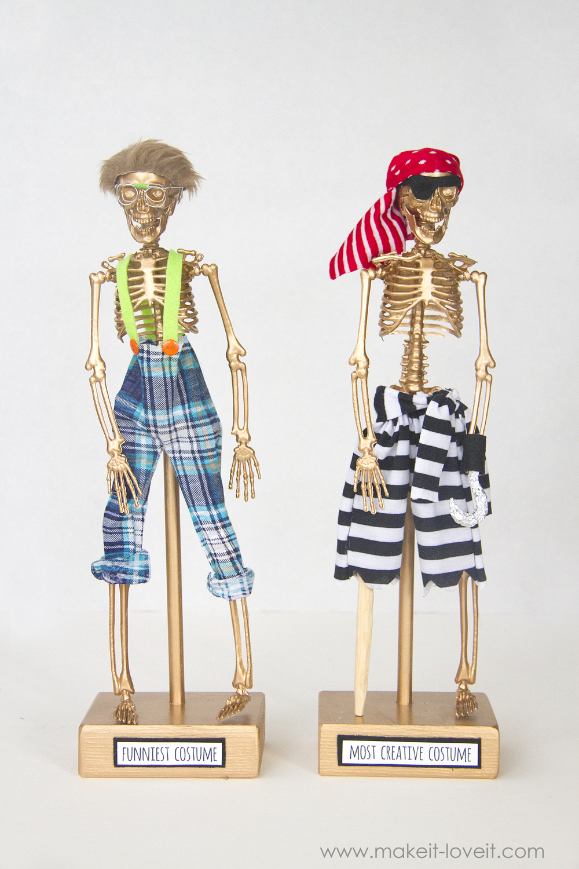 Halloween costume awards - spider and mummy
