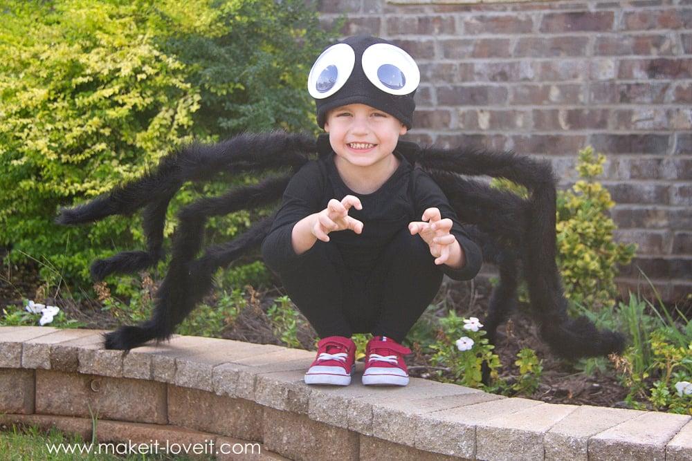 DIY No Sew Spider Costume by Ashley Johnston