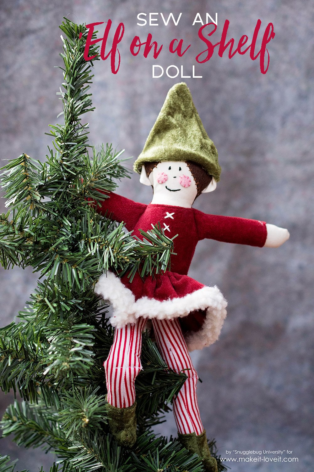 Sew an elf on a shelf doll