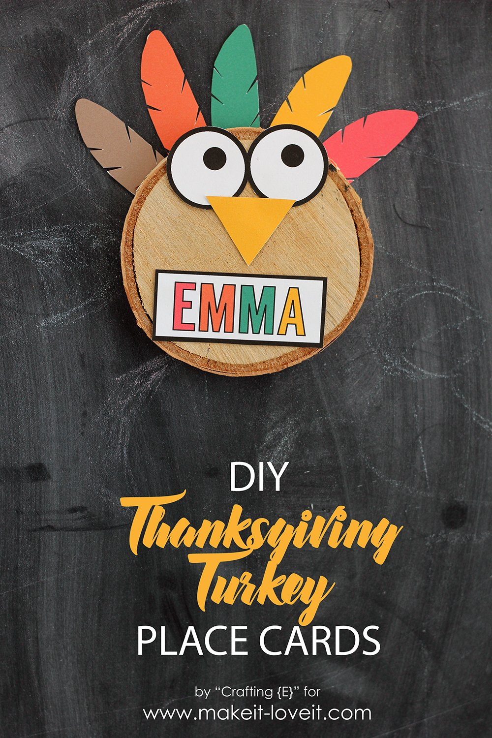 Thanksgiving turkey place cards6