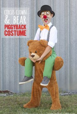 "Circus Clown and Bear ""Piggyback"" Costume"